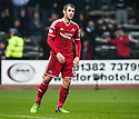 Aberdeen's Niall McGinn after seeing his last minute shot hit the underside of the bar and bounce down onto the line.