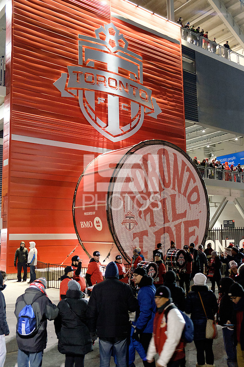 Toronto, ON, Canada - Saturday Dec. 10, 2016: BMO Field, fans prior to the MLS Cup finals at BMO Field. The Seattle Sounders FC defeated Toronto FC on penalty kicks after playing a scoreless game.