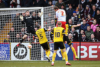 Luke Wilkinson of Stevenage (2) scores the opening goal against Northampton Town during the Sky Bet League 2 match between Stevenage and Northampton Town at the Lamex Stadium, Stevenage, England on 19 March 2016. Photo by David Horn / PRiME Media Images.