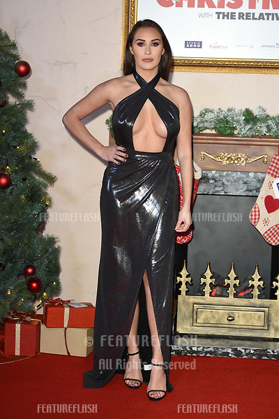 """LONDON, UK. November 21, 2018: Chloe Goodman at the """"Surviving Christmas with the Relatives"""" premiere at the Vue Leicester Square, London.<br /> Picture: Steve Vas/Featureflash"""