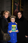 """Joe West, son of Maura West - As The World Turns' """"Carly"""" and Young and Restless, makes his Broadway Debut as """"Ralphie"""" in A Christmas Story The Musical and poses with his mom Maura and Martha Byrne on December 20, 2012 at the Lunt-Fontanne Theatre, New York City, New York. (Photo by Sue Coflin/Max Photos)"""