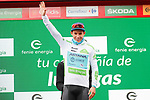 Miguel Angel Lopez Moreno (COL) Astana Pro Team retains the young riders White Jersey at the end of Stage 9 of La Vuelta 2019 running 99.4km from Andorra la Vella to Cortals d'Encamp, Spain. 1st September 2019.<br /> Picture: Luis Angel Gomez/Photogomezsport | Cyclefile<br /> <br /> All photos usage must carry mandatory copyright credit (© Cyclefile | Luis Angel Gomez/Photogomezsport)