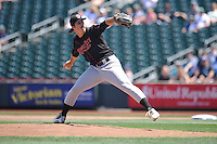 Nashville Sounds starting pitcher Daniel Mengden (19) throws during the Pacific Coast League game against the Omaha Storm Chasers at Werner Park on June 5, 2016 in Omaha, Nebraska.  Omaha won 6-4.  (Dennis Hubbard/Four Seam Images)