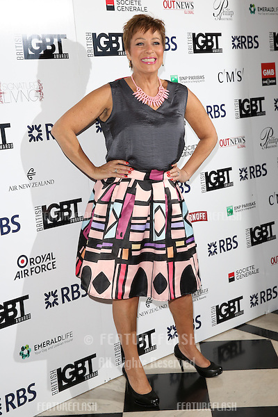 Denise Welch at The British LGBT Awards at the Grand Connaught Rooms, London.<br /> May 13, 2016  London, UK<br /> Picture: James Smith / Featureflash