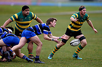 Kane Johnston in action during the Otago premier club rugby union match between Kaikorai and Green Island at Bishopscourt Park in Dunedin, New Zealand on Saturday, 4 July 2020. Photo: Joe Allison / lintottphoto.co.nz