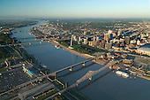 St Louis riverfront along Mississippi River