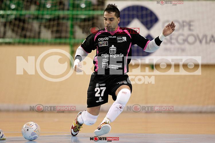 Caja Segovia's Jesus Herrero during Spanish National Futsal League match.November 24,2012. (ALTERPHOTOS/Acero) /NortePhoto