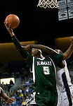 January 14, 2012:    Hawai'i Rainbow Warriors Joston Thomas is fouled by Nevada Wolf Pack Dario Hunt as he goes up for a shot during their NCAA basketball game played at Lawlor Events Center on Saturday night in Reno, Nevada.