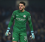 Manchester City goalkeeper Ederson during the premier league match at the Etihad Stadium, Manchester. Picture date 16th December 2017. Picture credit should read: Robin ParkerSportimage