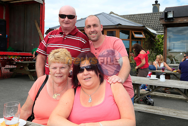 Olive Martin Evelyn Andrews Eric Martin and Packie Andrews  at the Carranstown Lodge family day<br /> Picture:  www.newsfile.ie