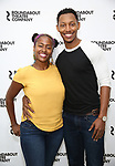 Eboni Flowers and Brandon Gill attend the press photo call for the Roundabout Theatre Company's production of  'Too Heavy For Your Pocket' at The Roundabout Theatre Studios on August 24, 2017 in New York City.