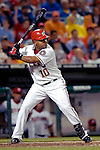 16 May 2007: Washington Nationals second baseman Ronnie Belliard in action against the Atlanta Braves at RFK Stadium in Washington, DC. The Nationals rallied to defeat the Braves 6-4 to take a 2-1 lead in their four-game series...Mandatory Photo Credit: Ed Wolfstein Photo