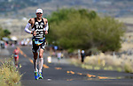 KAILUA-KONA, HI - OCTOBER 13:  Andy Potts of the USA runs during the 2012 IRONMAN World Championships on October 13, 2012 in Kailua-Kona, Hawaii. (Photo by Donald Miralle)