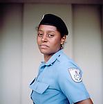Police officer Glacy Rocha, 31, <br /> Administration<br /> Pacifying Police Unit<br /> Complexo do Caju, Rio de Janeiro, Brazil