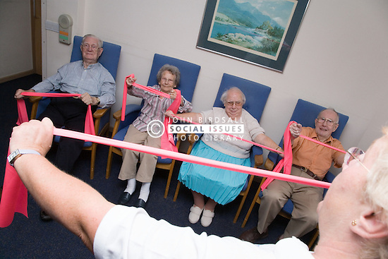 Group of Older People in a keep fit class,