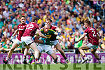 Kieran Donaghy Kerry in action against David Walsh and Liam Silke Galway in the All Ireland Senior Football Quarter Final at Croke Park on Sunday.