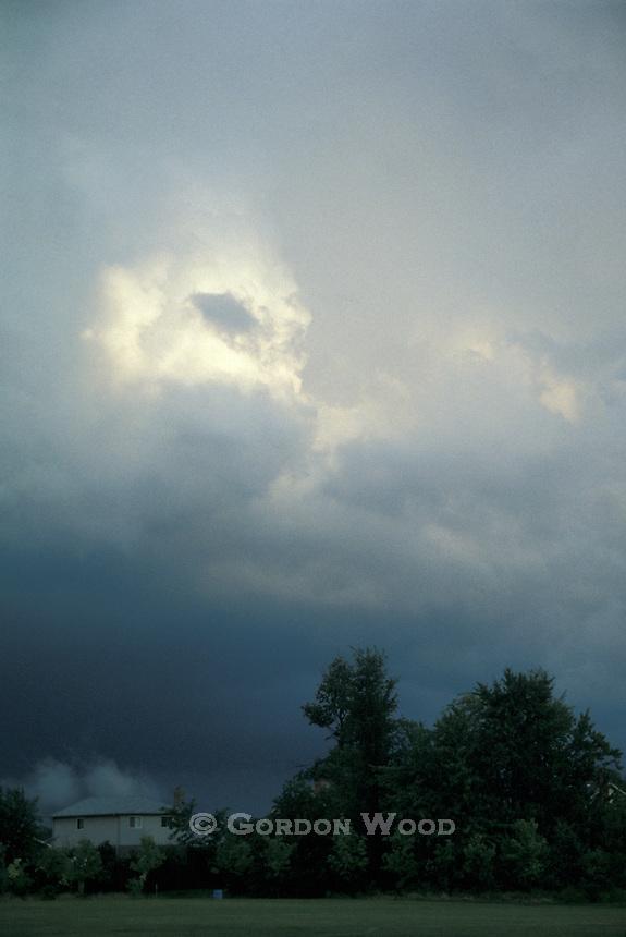 Threatening Cumulonimbus Clouds over Suburbia