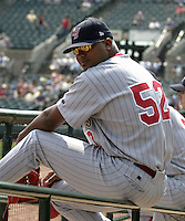 August 15, 2004:  Franklin Perez (52) of the Scranton-Wilkes Barre Red Barons, Class-AAA International League affiliate of the Philadelphia Phillies, during a game at Frontier Field in Rochester, NY.  Photo by:  Mike Janes/Four Seam Images