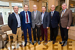Enjoying the  Austin Stacks Centenary Lunch at Ballygarry House Hotel on Friday were Niall Lucey, Ronan Murray, Christy Murray, John Murray, Tadhg McGillicuddy and Michael O'Donoghue