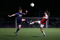 Martha Harris of Manchester Utd and Danielle van de Donk of Arsenal during Arsenal Women vs Manchester United Women, FA WSL Continental Tyres Cup Football at Meadow Park on 7th February 2019