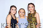 Siobhain Collins, Sarah O'Sullivan and Danni Reidy  at the Castleisland Community College fashion show on Thursday in the River Island Hotel