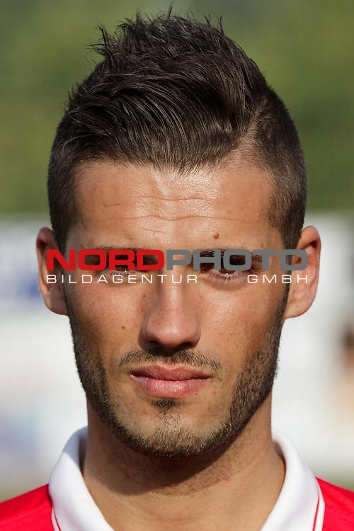 Portrait Pedro Ribeiro<br /> / Fussball, Luxemburg, BGL Ligue, Saison 2014-2015 / 19.06.2014 /<br /> Mannschaftsfoto FC Differdingen 03 (FC Deifferdeng 03, Differdange) / <br /> Stade Parc des Sports, Oberkorn /<br /> <br /> Foto &copy; nordphoto / Majerus *** Local Caption ***