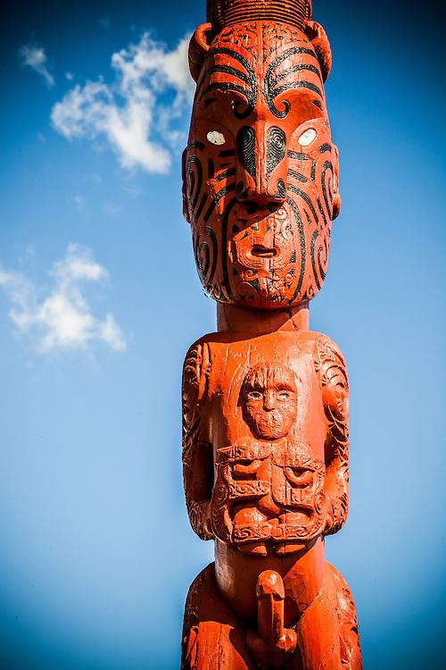 Maori Carving, Te Puia, Rotorua, New Zealand - stock photo, canvas, fine art print