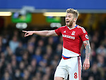 Middlesbrough's Adam Clayton in action during the Premier League match at Stamford Bridge Stadium, London. Picture date: May 8th, 2017. Pic credit should read: David Klein/Sportimage