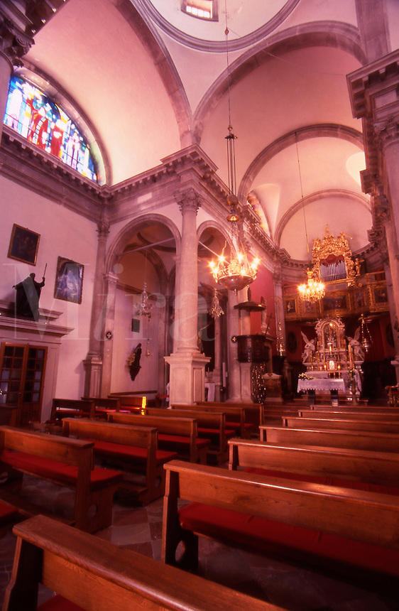 The interior of St Blaise Church. Dubrovnik Old City, Croatia.