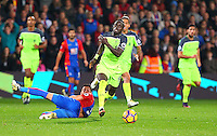 Sadio Mane of Liverpool heads forward during the EPL - Premier League match between Crystal Palace and Liverpool at Selhurst Park, London, England on 29 October 2016. Photo by Steve McCarthy.