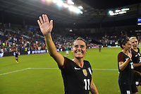 Kansas City, KS. - July 22, 2016: The U.S. Women's National team defeat Costa Rica 4-0 during a friendly match in preparation for the Olympics at Children's Mercy Park.