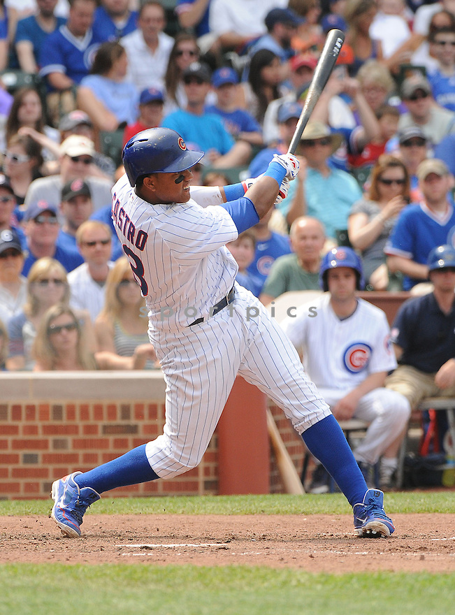 Chicago Cubs Starlin Castro (13) during a game against the New York Mets on May 19, 2013 at Wrigley Field in Chicago, IL. The Mets beat the Cubs 4-3.