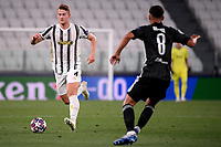 Matthijs de Ligt of Juventus in action during the Champions League round of 16 second leg football match between Juventus FC and Lyon at Juventus stadium in Turin (Italy), August 7th, 2020. <br /> Photo Federico Tardito / Insidefoto