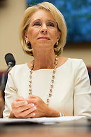 United States Secretary of Education Betsy Devos Testifies on US Department of Education Budget