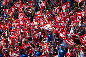 June 10th 2017,  Barcelona Circuit, Montmelo, Catalunya, Spain; MotoGP Grand Prix of Catalunya, qualifying day; Marc Marquez supporters cheering up their rider