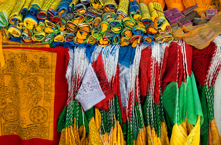 Prayer Flags for sale in Lhasa, Tibet