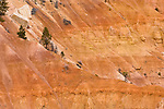 A close up of the orange cliffs from the world famous Bryce Canyon National Park