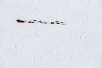 A team travels on the Yukon River between the Grayling and Eagle Island checkpoints on Saturday, March 10th during the 2018 Iditarod Sled Dog Race -- Alaska<br /> <br /> Photo by Jeff Schultz/SchultzPhoto.com  (C) 2018  ALL RIGHTS RESERVED