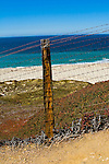 Fence along the Pacific Coast Highway near Big Sur, California