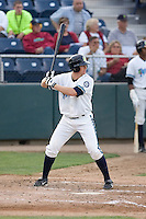 August 4, 2009: Everett AquaSox's Hawkins Gebbers at-bat during a Northwest League game against the Boise Hawks at Everett Memorial Stadium in Everett, Washington.