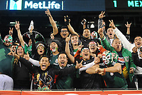 EAST RUTHERFORD, NJ - SEPTEMBER 7: Mexico Fans supporting the National Team during a game between Mexico and USMNT at MetLife Stadium on September 6, 2019 in East Rutherford, New Jersey.