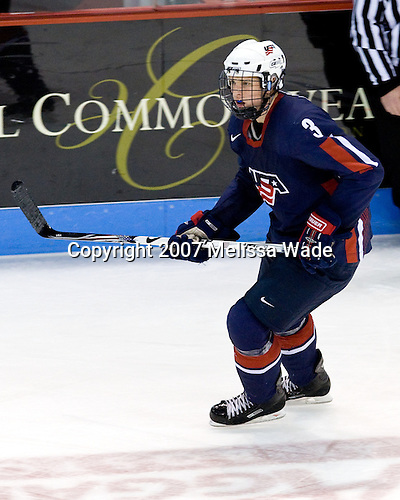 Sean Lorenz (US Under-18 3) - The Boston University Terriers defeated the US National Team Development Program Under-18s 3-2 on Saturday, December 8, 2007, at Agganis Arena in Boston, Massachusetts.