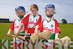 Enjoying the Kelloggs Hurling Cul Camps in Causeway on Friday were: Zach Walsh, Clodagh O'Leary and Luke Dillane.