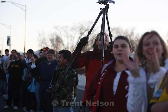 fans line state street. Celebration for Real Salt Lake's MLS Cup win Tuesday, November 24 2009. steve griffin