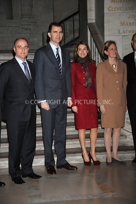 WWW.ACEPIXS.COM . . . . . ....March 16 2009, New York City....Prince Felipe and Princess Letizia of Spain visit The New York Public Library on March 16, 2009 in New York City. ....Please byline: KRISTIN CALLAHAN - ACEPIXS.COM.. . . . . . ..Ace Pictures, Inc:  ..tel: (212) 243 8787 or (646) 769 0430..e-mail: info@acepixs.com..web: http://www.acepixs.com