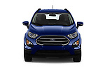 Car photography straight front view of a 2018 Ford Ecosport Business Class 5 Door SUV