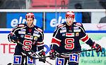 S&ouml;dert&auml;lje 2014-09-22 Ishockey Hockeyallsvenskan S&ouml;dert&auml;lje SK - IF Bj&ouml;rkl&ouml;ven :  <br /> S&ouml;dert&auml;ljes Robert Carlsson och Jonathan Carlsson deppar efter att Bj&ouml;rkl&ouml;vens Jon Palmebj&ouml;rk gjort 0-1 i den andra perioden<br /> (Foto: Kenta J&ouml;nsson) Nyckelord: Axa Sports Center Hockey Ishockey S&ouml;dert&auml;lje SK SSK Bj&ouml;rkl&ouml;ven L&ouml;ven IFB  depp besviken besvikelse sorg ledsen deppig nedst&auml;md uppgiven sad disappointment disappointed dejected