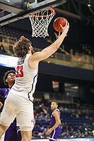 Washington, DC - December 22, 2018: Richmond Spiders forward Grant Golden (33) makes a layup during the DC Hoops Fest between Hampton and Howard at  Entertainment and Sports Arena in Washington, DC.   (Photo by Elliott Brown/Media Images International)