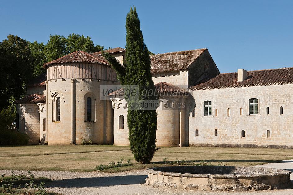 Europe/France/Midi-Pyrénées/32/Gers/Valence-sur-Baïse: Abbaye de Flaran - le chevet de l'église romane
