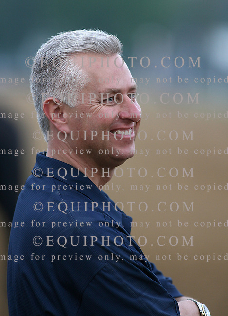 Trainer Todd Pletcher smiles as his five Kentucky Derby contenders galloped on the track at Churchill Downs in Louisville, Kentucky on Wednesday May 1, 2007.  Photo By Bill Denver/EQUI-PHOTO